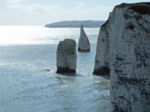 Viejo Harry Rocks, Reino Unido Imagen de archivo