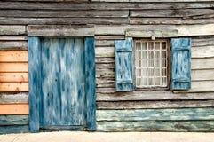 Viejo hogar de madera Fotografía de archivo libre de regalías