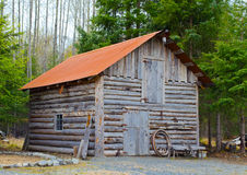 Viejo hogar del registro Fotografía de archivo libre de regalías