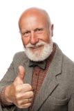 Viejo hombre con una barba grande y una sonrisa Fotografía de archivo libre de regalías