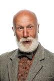 Viejo hombre con una barba grande y una sonrisa Imagen de archivo libre de regalías