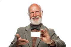 Viejo hombre con una barba grande y una sonrisa Imagenes de archivo