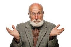 Viejo hombre con una barba grande y una sonrisa Foto de archivo libre de regalías
