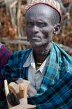 Viejo hombre de la tribu de Arbore Imágenes de archivo libres de regalías