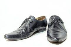 Viejo hombre de los zapatos de cuero Imágenes de archivo libres de regalías
