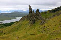 Viejo hombre de Storr en Escocia imagenes de archivo