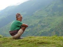 Viejo hombre de Tallo Chipla Fotografía de archivo