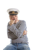 Viejo hombre del marinero Fotos de archivo libres de regalías