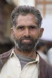 Viejo hombre del retrato en la calle en Leh, Ladakh La India Imagen de archivo libre de regalías