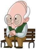 Viejo hombre en banco libre illustration