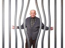 Viejo hombre en la prisión Imagenes de archivo