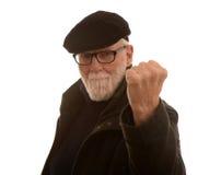 Viejo hombre enojado fotos de archivo
