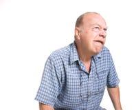 Viejo hombre expresivo Fotos de archivo