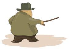 Viejo hombre gordo stock de ilustración