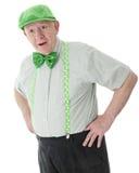Viejo hombre irlandés sorprendido Fotos de archivo