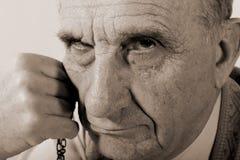 Viejo hombre puritano Foto de archivo