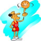 Viejo hombre que juega con baloncesto Fotos de archivo libres de regalías