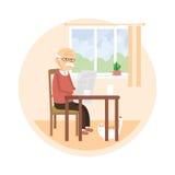 Viejo hombre que lee un periódico Imagen de archivo libre de regalías