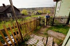 Viejo hombre Veps - pequeña gente Finno-Ugric que vive en el territorio de la región de Leningrad en Rusia Foto de archivo libre de regalías