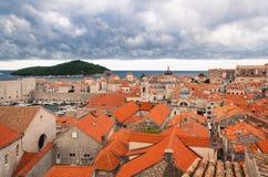 Viejo horizonte de la ciudad de Dubrovnik, Croacia Foto de archivo libre de regalías