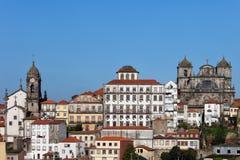 Viejo horizonte de la ciudad de Oporto Foto de archivo libre de regalías