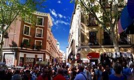Viejo huya del mercado de Madrid fotografía de archivo libre de regalías
