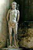 Viejo icono de la iglesia en una abadía histórica Fotos de archivo