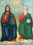 Viejo icono ortodoxo Imagenes de archivo
