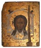 Viejo icono ruso del Jesucristo Fotografía de archivo