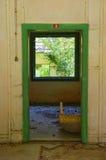 Viejo interior abandonado 1 de la casa Foto de archivo libre de regalías