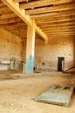 Viejo interior abandonado del molino Foto de archivo