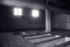 Viejo interior abandonado del molino Imagen de archivo libre de regalías