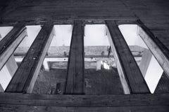 Viejo interior abandonado del molino Fotografía de archivo