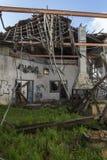 Viejo interior constructivo abandonado Imagenes de archivo