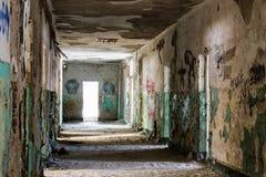 Viejo interior constructivo abandonado Imagen de archivo