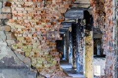 Viejo interior constructivo abandonado Fotos de archivo libres de regalías