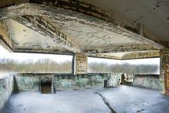 Viejo interior constructivo abandonado, proceso del hdr. Foto de archivo libre de regalías