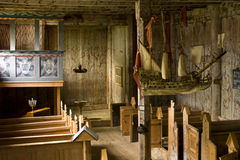 Viejo interior de la iglesia Fotos de archivo