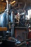 Viejo interior de la locomotora de vapor Fotografía de archivo libre de regalías