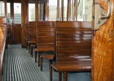 Viejo interior del tren Fotografía de archivo libre de regalías