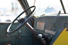 Viejo interior internacional del camión Imágenes de archivo libres de regalías