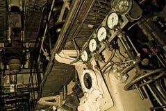 Viejo interior submarino Fotos de archivo libres de regalías