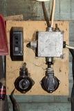 Viejo interruptor Imagen de archivo