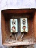 Viejo interruptor de la fábrica Imagen de archivo libre de regalías