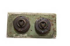 Viejo interruptor de la luz Imagen de archivo libre de regalías