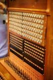 Viejo interruptor de teléfono Fotografía de archivo libre de regalías