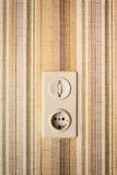 Viejo interruptor ligero Fotografía de archivo