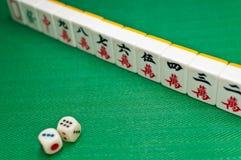 Viejo juego Mahjong de China Fotografía de archivo libre de regalías