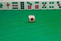 Viejo juego Mahjong de China Imagen de archivo libre de regalías