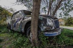 Viejo lado clásico del coche Foto de archivo libre de regalías